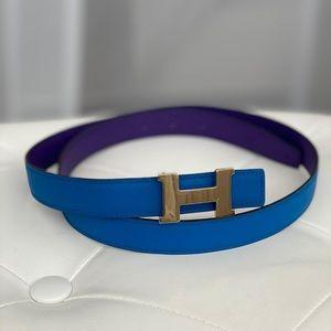 Hermès Blue-Purple  Belt